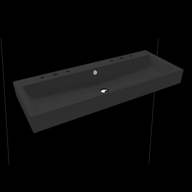 Kaldewei Puro Doppelwaschtisch cool grey 90, mit 6 Hahnlöchern
