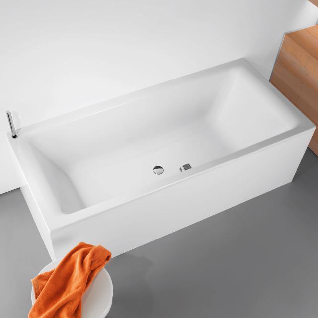 Kaldewei Puro Duo Rechteck-Badewanne, Einbau weiß mit Perl-Effekt