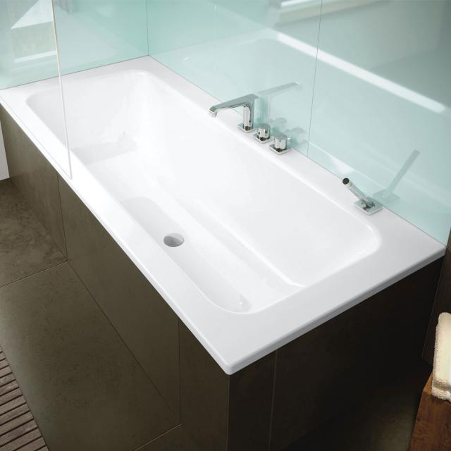Kaldewei Puro Set Wide Rechteck-Badewanne, Einbau weiß