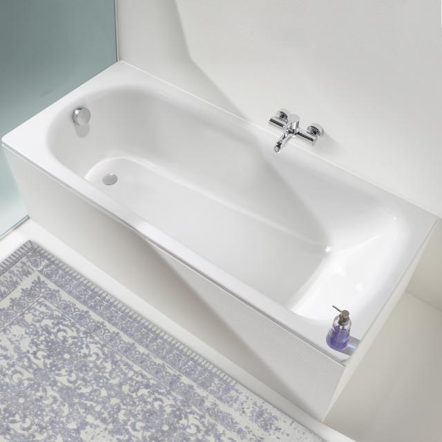 Kaldewei Saniform Plus & Saniform Plus Star Rechteck-Badewanne, Einbau weiß mit Perl-Effekt