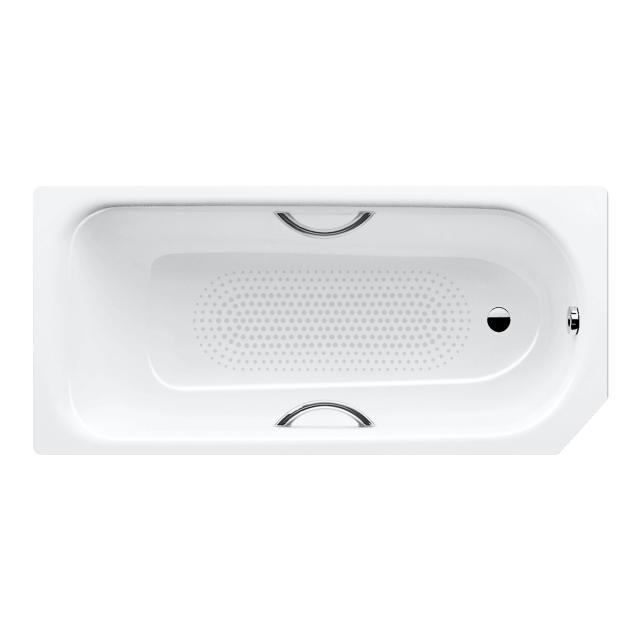 Kaldewei Saniform & Saniform Star Rechteck-Badewanne, Einbau Vollantislip, weiß, für Griffmontage