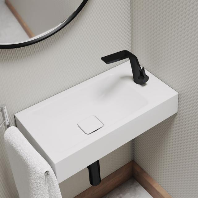 Kaldewei Set Cono Handwaschbecken mit Steinberg 260 Armatur schwarz matt