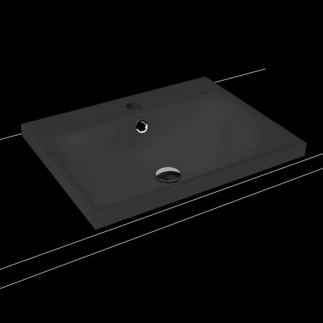 Kaldewei Silenio Einbauwaschtisch cool grey 90, mit 1 Hahnloch, mit Überlauf