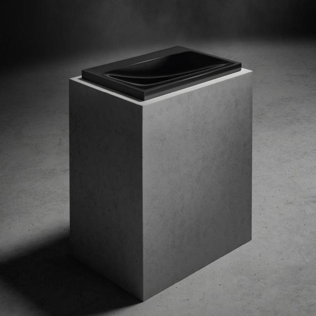 Kaldewei Silenio Einbauwaschtisch schwarz, ohne Hahnloch, ohne Überlauf