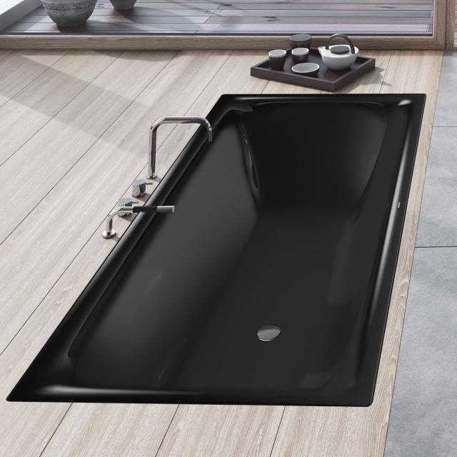 Kaldewei Silenio Rechteck-Badewanne, Einbau schwarz