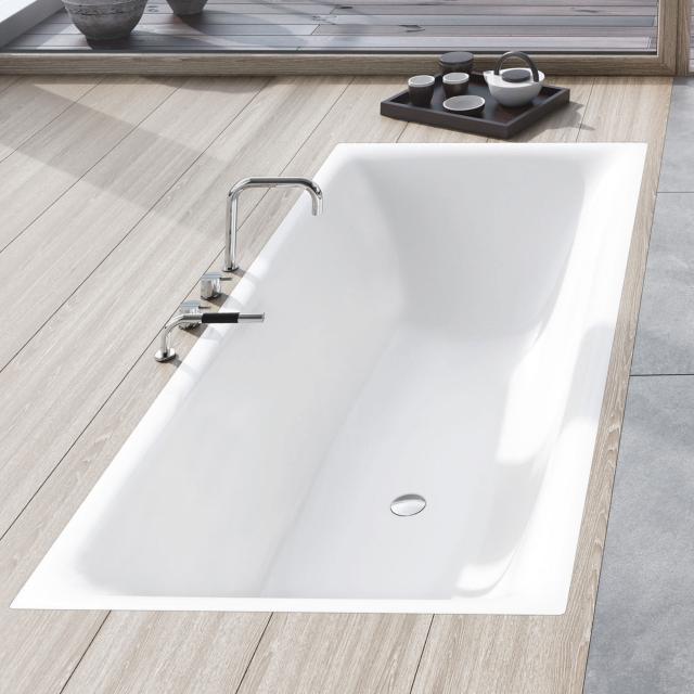 Kaldewei Silenio Rechteck-Badewanne, Einbau weiß matt