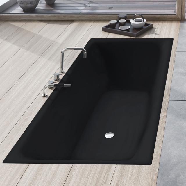 Kaldewei Silenio Rechteck-Badewanne, Einbau schwarz matt