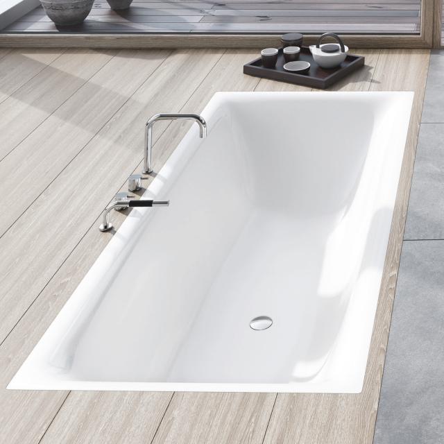 Kaldewei Silenio Rechteck-Badewanne, Einbau weiß mit Perl-Effekt