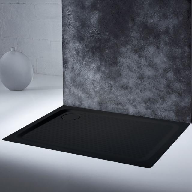 Kaldewei SuperPlan Plus Rechteck-Duschwanne schwarz, mit Vollantislip