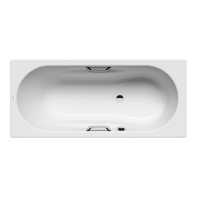 Kaldewei Vaio Set & Vaio Set Star Rechteck-Badewanne mit Duschzone weiß matt, für Griffmontage