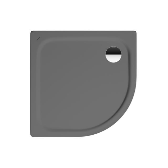 Kaldewei Zirkon Viertelkreis-Duschwanne warm grey 85, mit Perl-Effekt