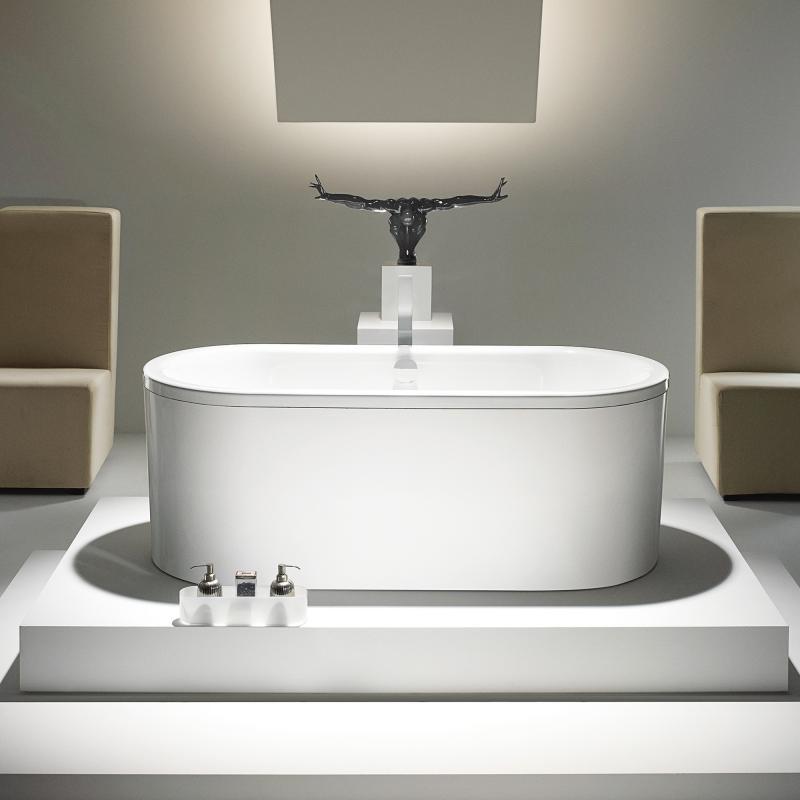 kaldewei centro duo oval badewanne m verkleidung wei. Black Bedroom Furniture Sets. Home Design Ideas