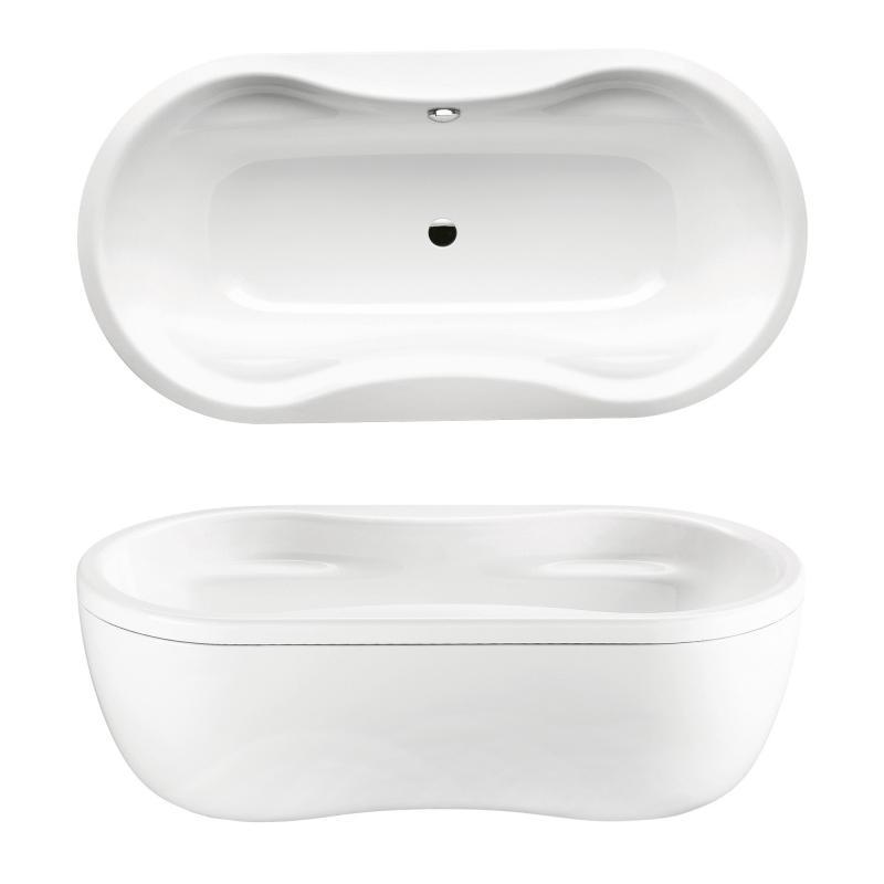 kaldewei mega duo oval freistehende badewanne mit verkleidung wei 223848050001 reuter. Black Bedroom Furniture Sets. Home Design Ideas