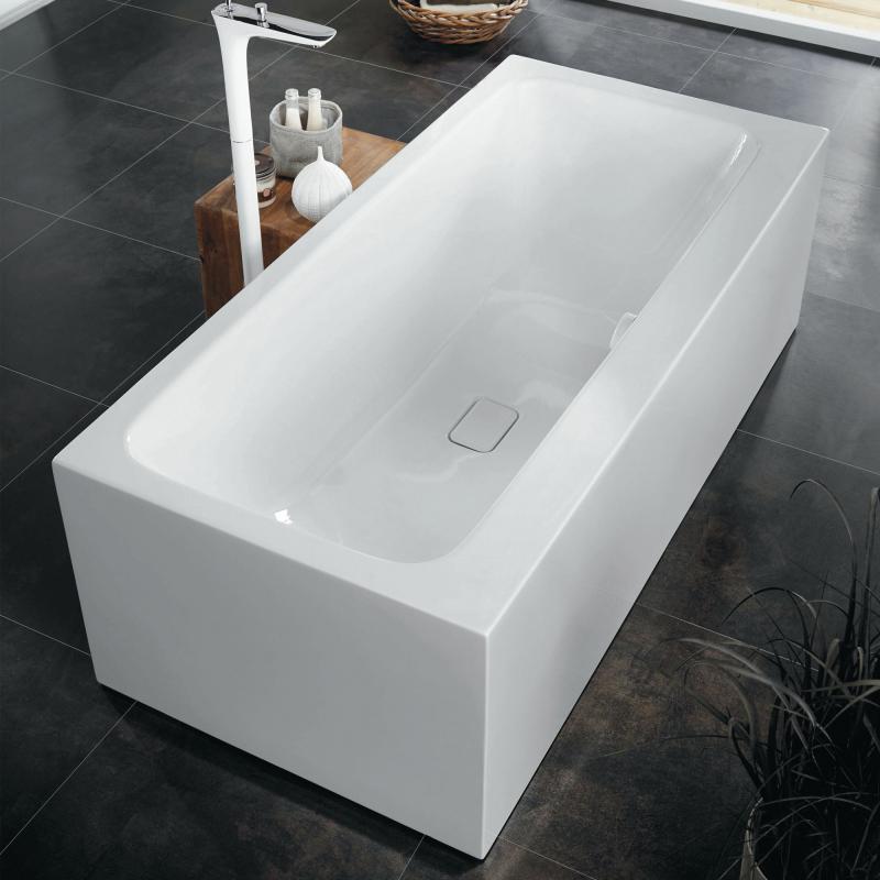 Kaldewei Meisterstück Asymmetric Duo Freistehende Badewanne ohne ... | {Badewanne mit duschzone kaldewei 18}