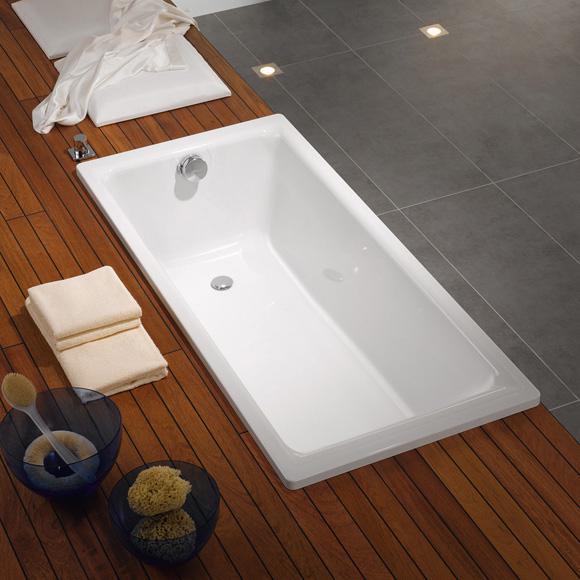 Kaldewei puro rechteck badewanne wei 256300010001 reuter for Sechseck badewanne stahl