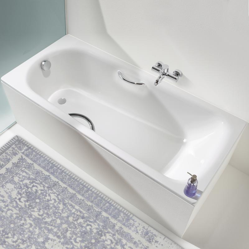 Badewanne mit duschzone kaldewei  Kaldewei Saniform Plus/Saniform Plus Star Rechteck-Badewanne weiß ...