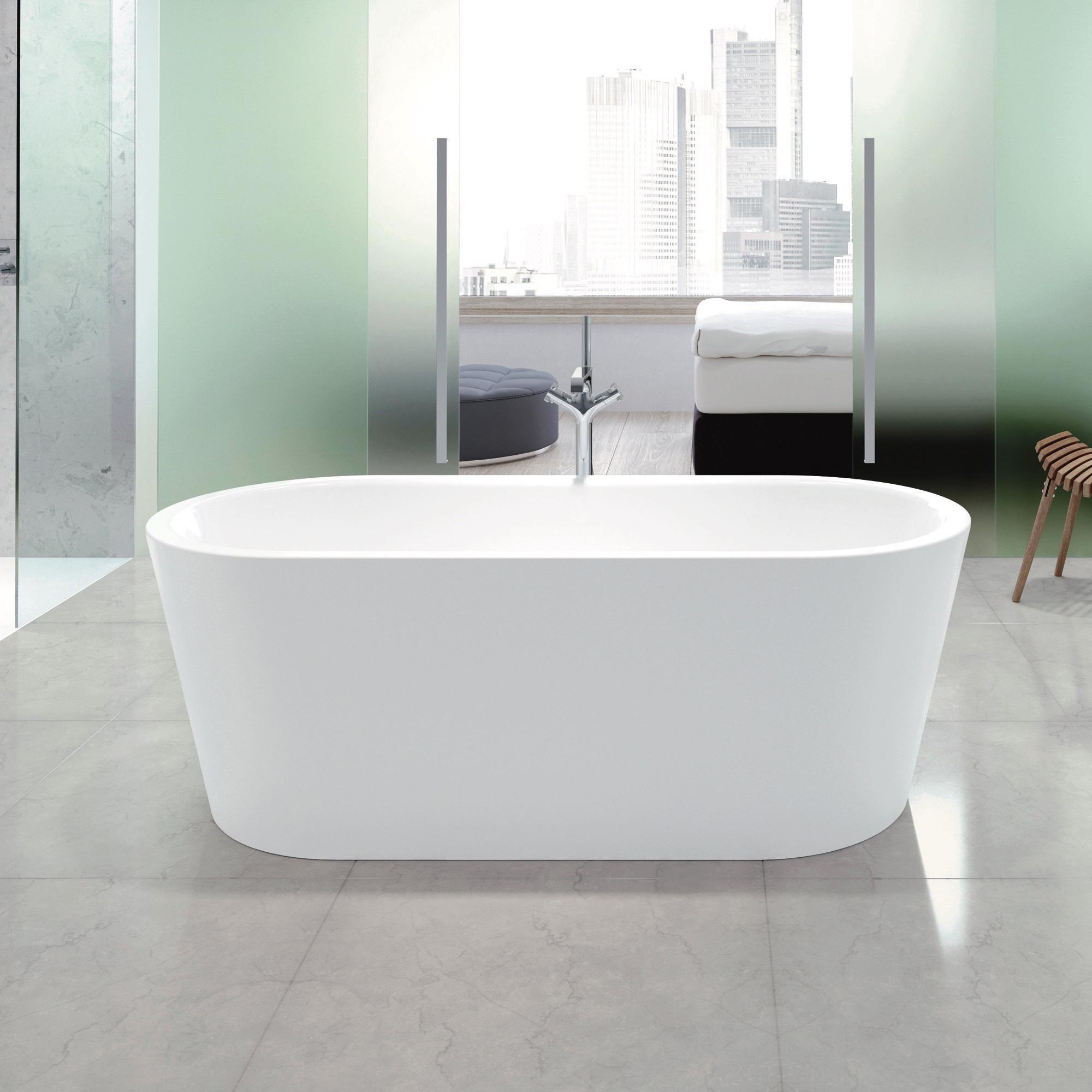 Kaldewei Meisterstück Classic Duo Oval Freistehende Oval Badewanne weiß,  ohne Ablaufgarnitur