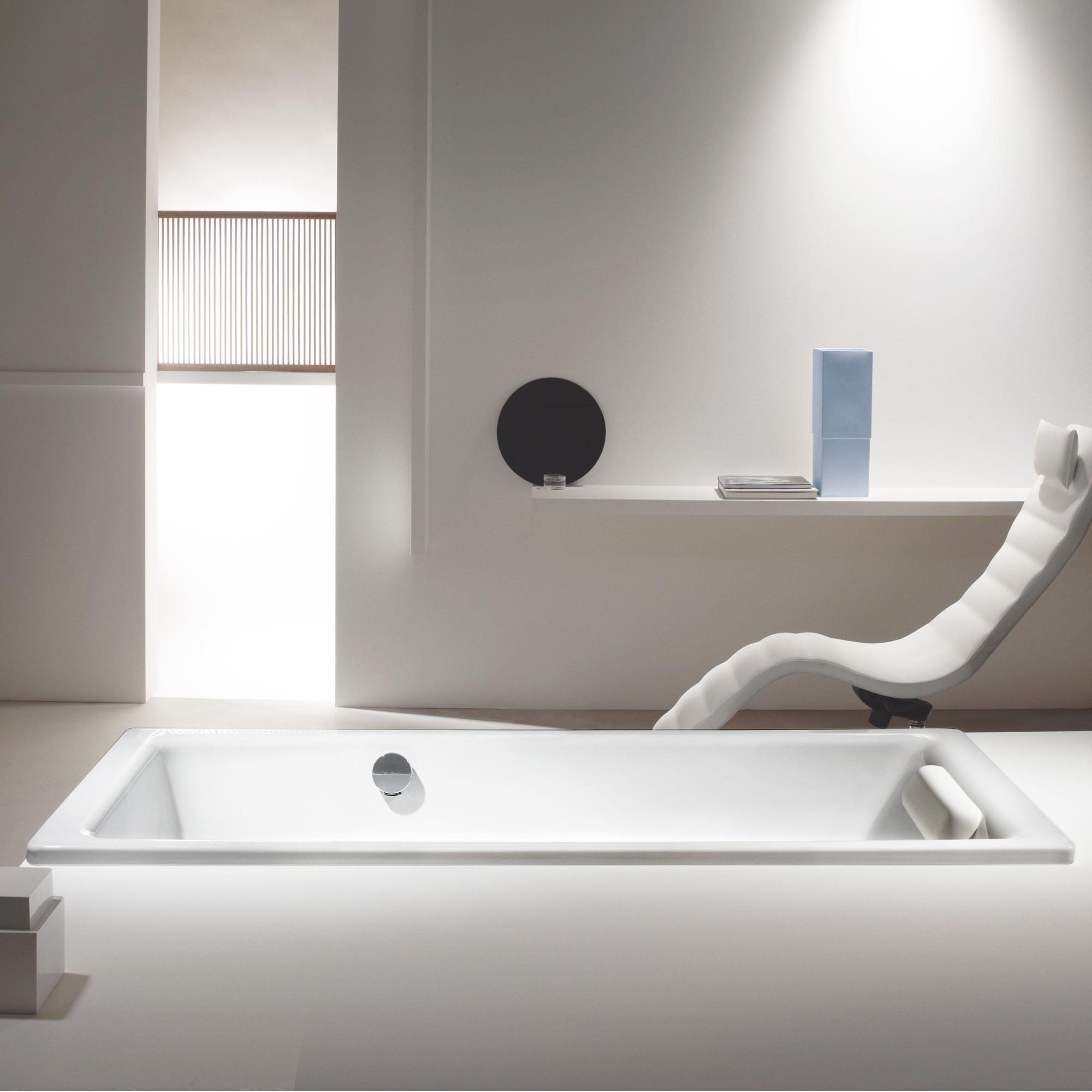 Kaldewei Puro & Puro Star Rechteck Badewanne mit seitlichem Überlauf  Vollantislip, weiß