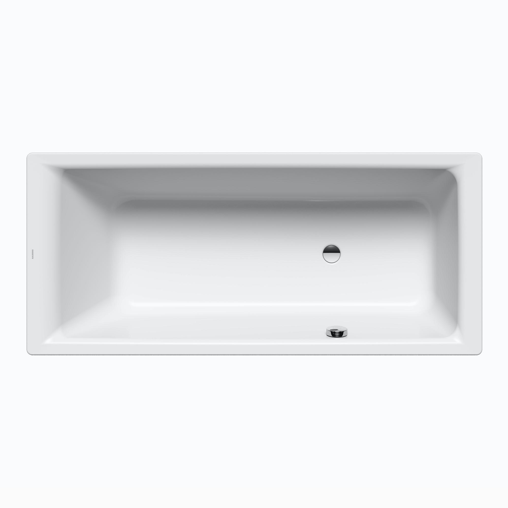 Kaldewei Puro & Puro Star Rechteck Badewanne mit seitlichem Überlauf weiß  mit Perl Effekt