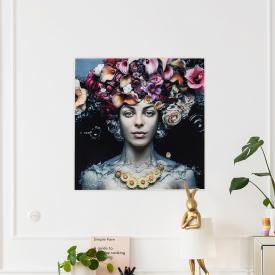 KARE Design Flower Art Lady Glasbild