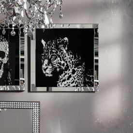 KARE Design Frame Mirror Leopard Glasbild