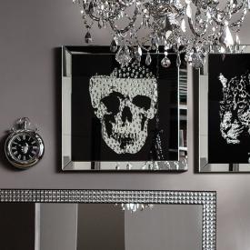 KARE Design Frame Mirror Skull Glasbild