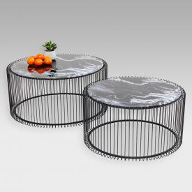 KARE Design Wire Couchtisch 2er Set