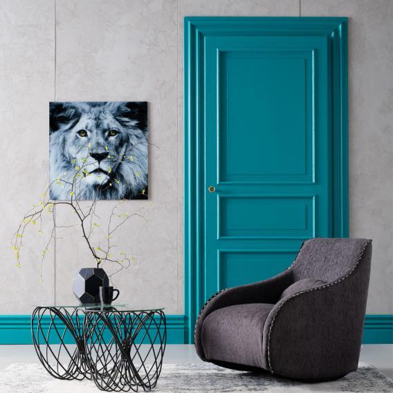 KARE Design Face Lion Glasbild
