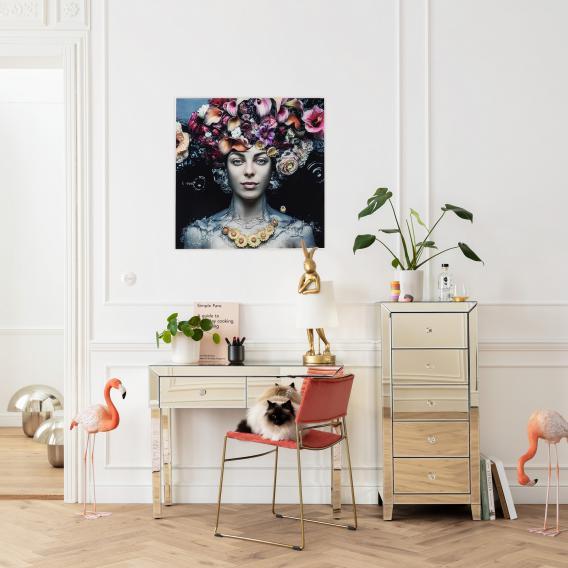 KARE Design Flower Art Lady Glasbild