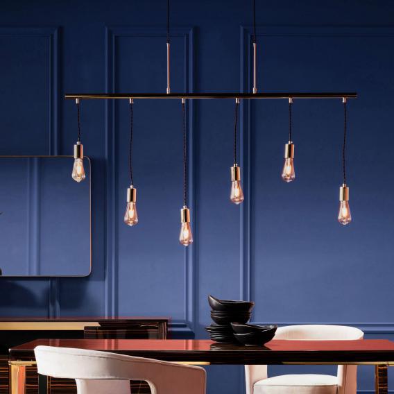 KARE Design Pole Messing Pendelleuchte 6-flammig