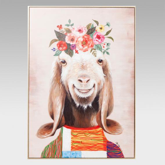 KARE Design Touched Flowers Goat Bild