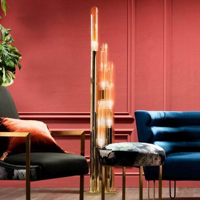 KARE Design Pipe Gold LED Stehleuchte