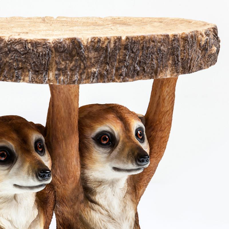 Kare Beistelltisch Animal Meerkat Sisters  Erdmännchen Couchtisch Abstelltisch