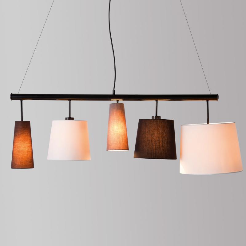 kare design parecchi black pendelleuchte 5 flammig 32200. Black Bedroom Furniture Sets. Home Design Ideas