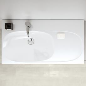 Geberit Acanto Waschtisch mit Ablagefläche weiß, mit 1 Hahnloch