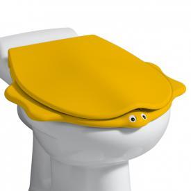Geberit Bambini WC-Sitz im Tierdesign mit Deckel gelb mit Absenkautomatik soft-close