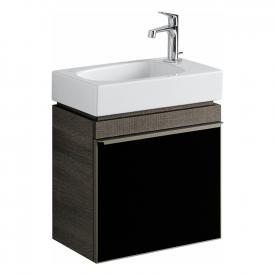 Geberit Citterio Handwaschbeckenunterschrank mit 1 Tür Front schwarz / Korpus graubraun