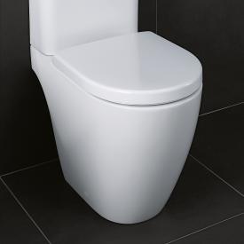 Geberit iCon Stand-Tiefspül-WC für Kombination, ohne Spülrand weiß, mit KeraTect