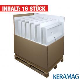 Geberit iCon Waschtisch, 16 Stück weiß, mit KeraTect