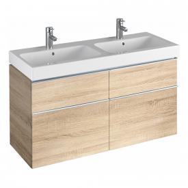 Geberit iCon Waschtischunterschrank für Doppelwaschtisch Front eiche natur/Korpus eiche natur