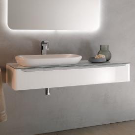 Geberit myDay Waschtischunterschrank für Einbauwaschtisch mit LED-Beleuchtung Front und Korpus weiß hochglanz