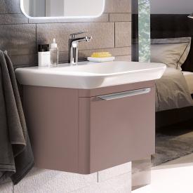 Geberit myDay Waschtischunterschrank mit 1 Auszug Front und Korpus taupe hochglanz