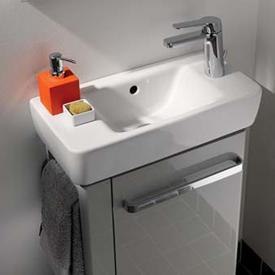 Geberit Renova Compact Handwaschbecken mit Hahnloch rechts weiß
