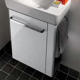 Geberit Renova Compact WT-Unterschrank mit Handtuchhalter Front weiß hochglanz / Korpus weiß matt