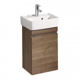 Geberit Renova Plan Handwaschbecken-Unterschrank mit 1 Auszug Front und Korpus eiche natur dunkel