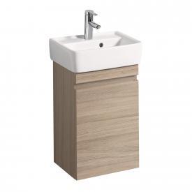 Geberit Renova Plan Handwaschbecken-Unterschrank mit 1 Auszug Front und Korpus ulme gebürstet