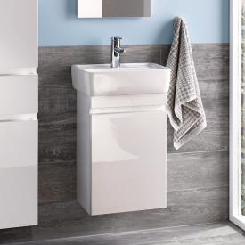 Geberit Renova Plan Handwaschbecken-Unterschrank mit 1 Auszug Front und Korpus weiß hochglanz