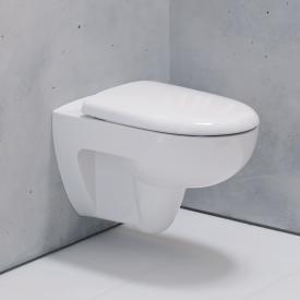 Geberit Renova Tiefspül-WC, 4,5/6 l, wandhängend mit Spülrand, weiß