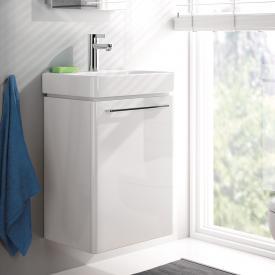 Geberit Smyle Handwaschbecken-Unterschrank Front und Korpus weiß hochglanz