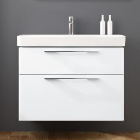Geberit Smyle Waschtischunterschrank mit 2 Auszügen Front und Korpus weiß hochglanz